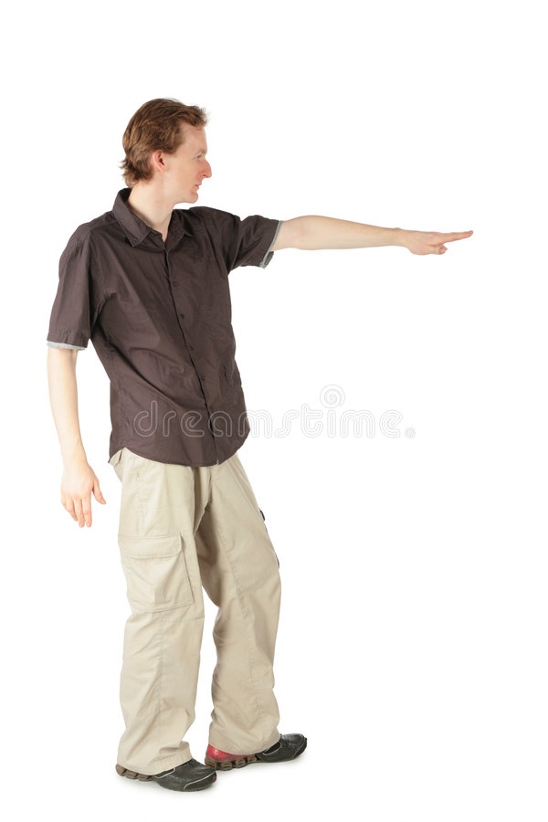 Download Men indicating by hand stock photo. Image of casual, activity - 8074598