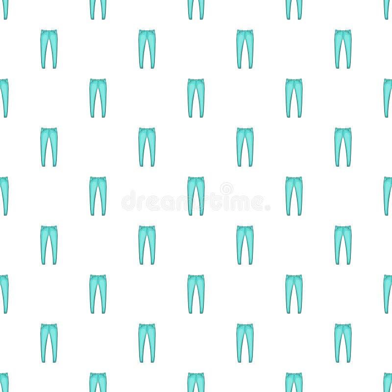Men jeans pattern, cartoon style. Men jeans pattern. Cartoon illustration of men jeans vector pattern for web stock illustration