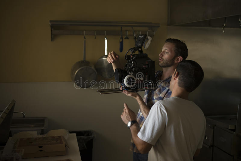 Men In Kitchen With Video Camera Free Public Domain Cc0 Image