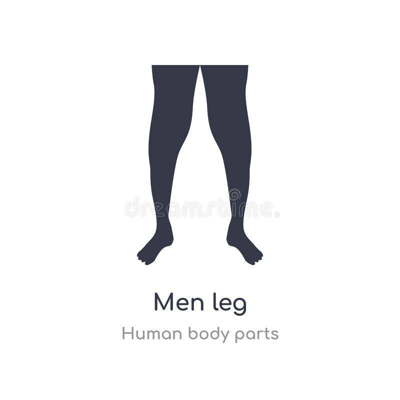 men leg outline icon. isolated line vector illustration from human body parts collection. editable thin stroke men leg icon on vector illustration