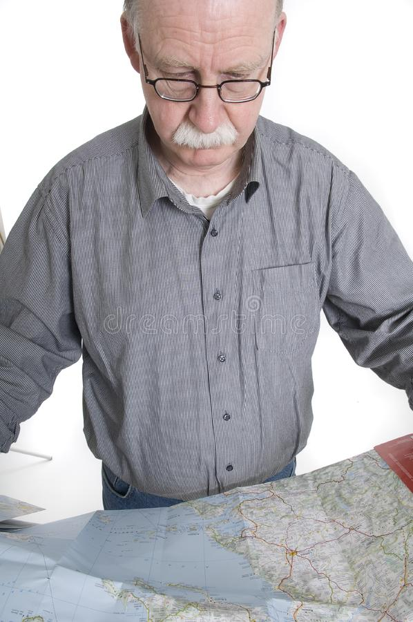 Men with map