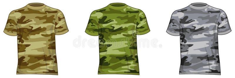 Men military shirts stock illustration