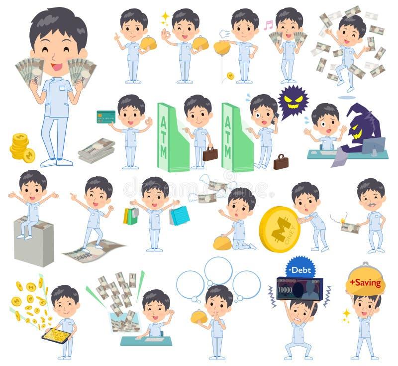 Men_money de chiroprakteur illustration de vecteur