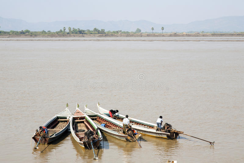Download Four Small Boats In Myanmar Editorial Stock Image - Image: 29783519
