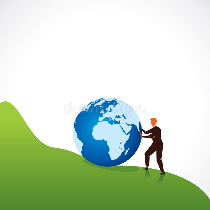 Download Men Move World Top Of Cliff Stock Images - Image: 28100374