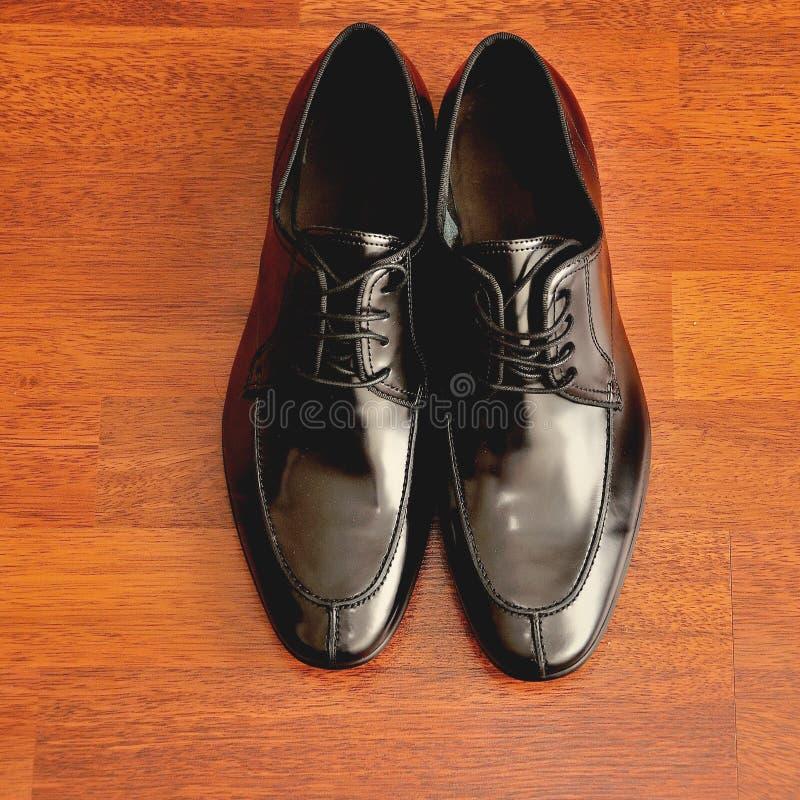 Men& noir x27 ; chaussures de s images libres de droits