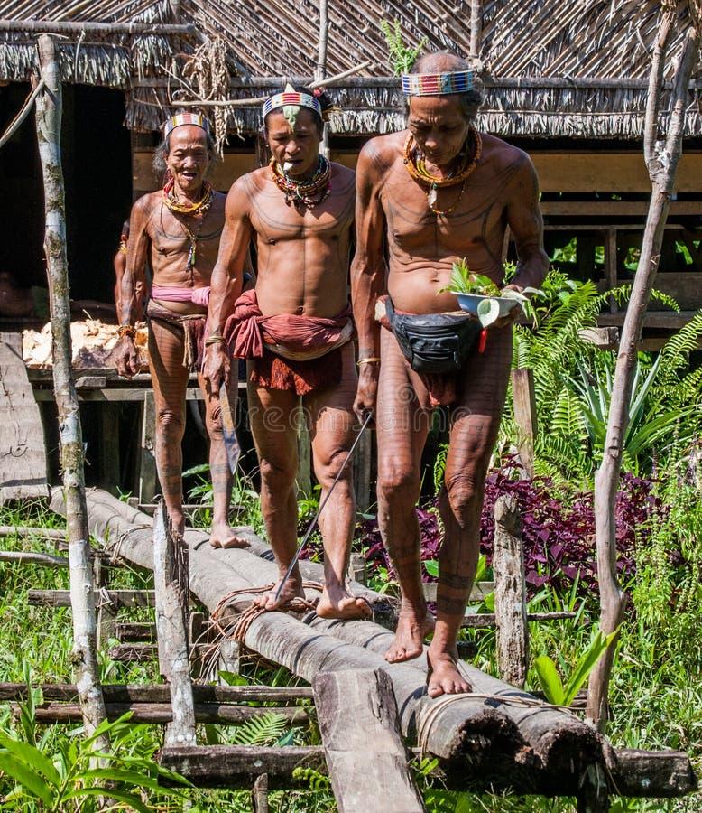 Free Men Of The Mentawai Tribe Go Hunting. Royalty Free Stock Image - 81027376