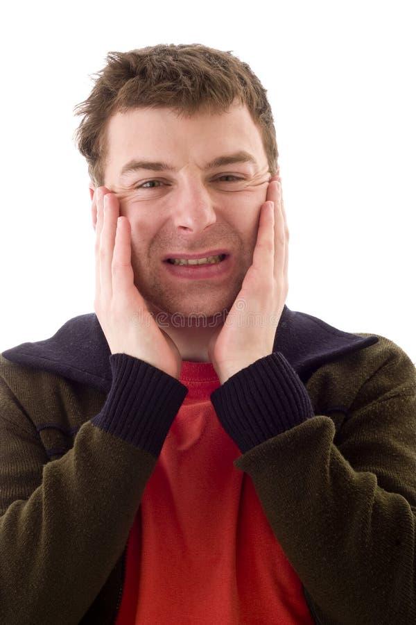 Men in pain stock image