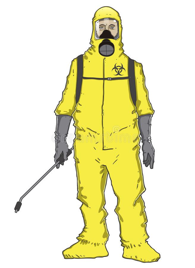 Men in protective suit royalty free illustration
