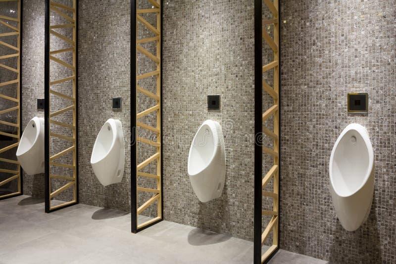 Men public restroom stock photos