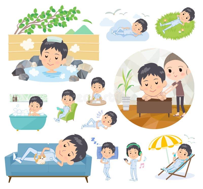 Men_relax de chiroprakteur illustration stock