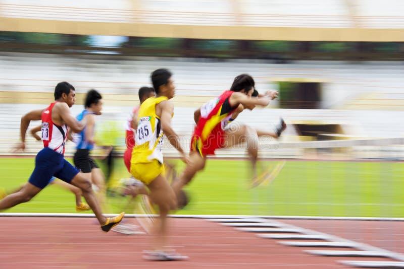 Download Men's 110 Meters Hurdles Action (Blurred) Editorial Image - Image: 9366275
