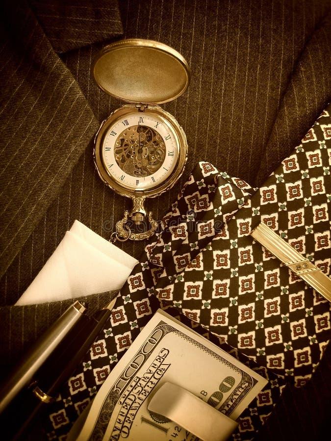 Men's Accessories With Black Suit stock images