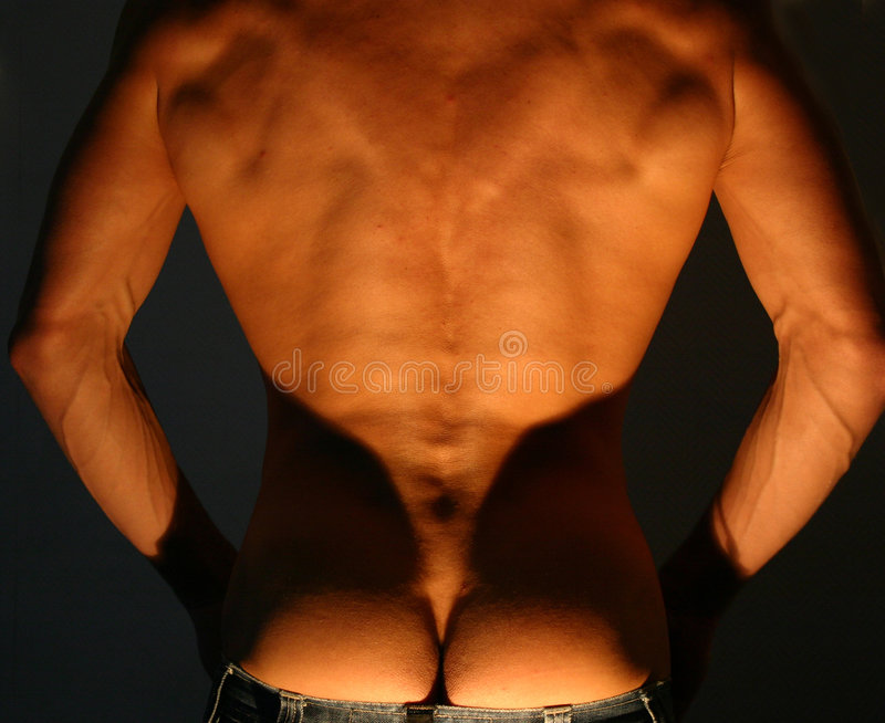 Download Men's back stock image. Image of attractive, singl, huhu - 14399