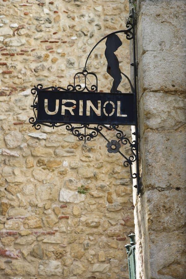 Men's Bathroom Sign in Lisbon royalty free stock images