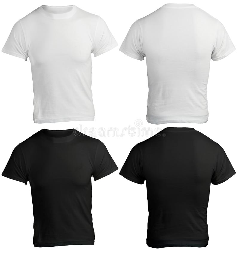 Free Men S Blank Black And White Shirt Template Stock Images - 36166594