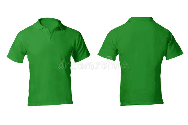 Men's Blank Green Polo Shirt Template Stock Image - Image ...