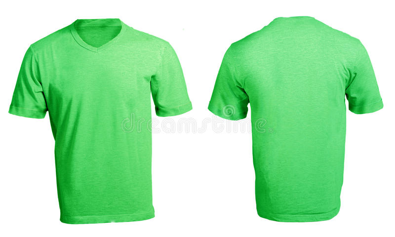 men s blank green v neck shirt template stock image image of