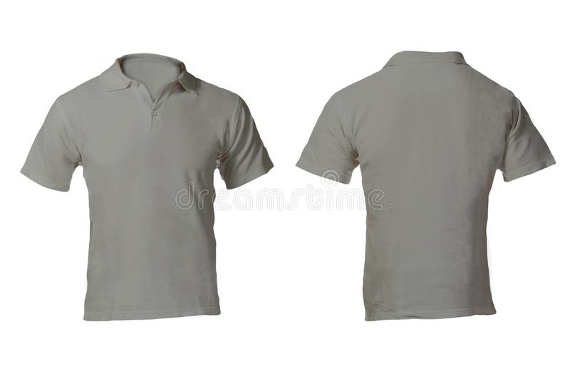 Men\'s Blank Grey Polo Shirt Template Stock Image - Image of body ...