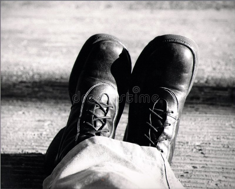 Men's boots stock image