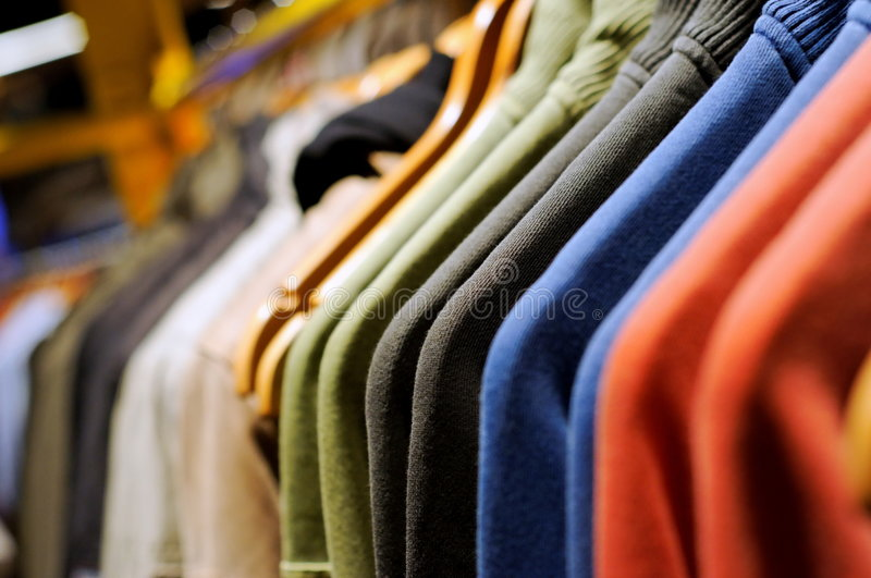 Men's casual wear royalty free stock photography