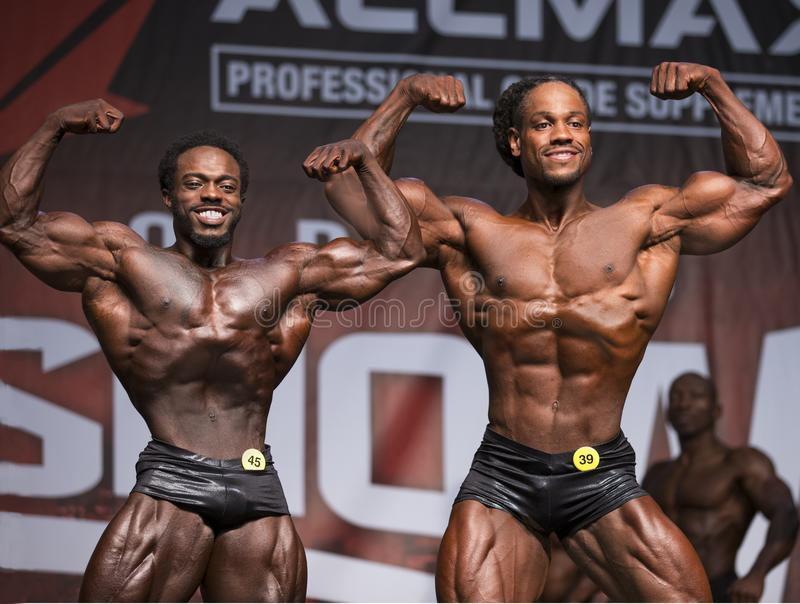 Men`s Classic Physique Stars Clash at 2018 Toronto Pro Supershow royalty free stock photo