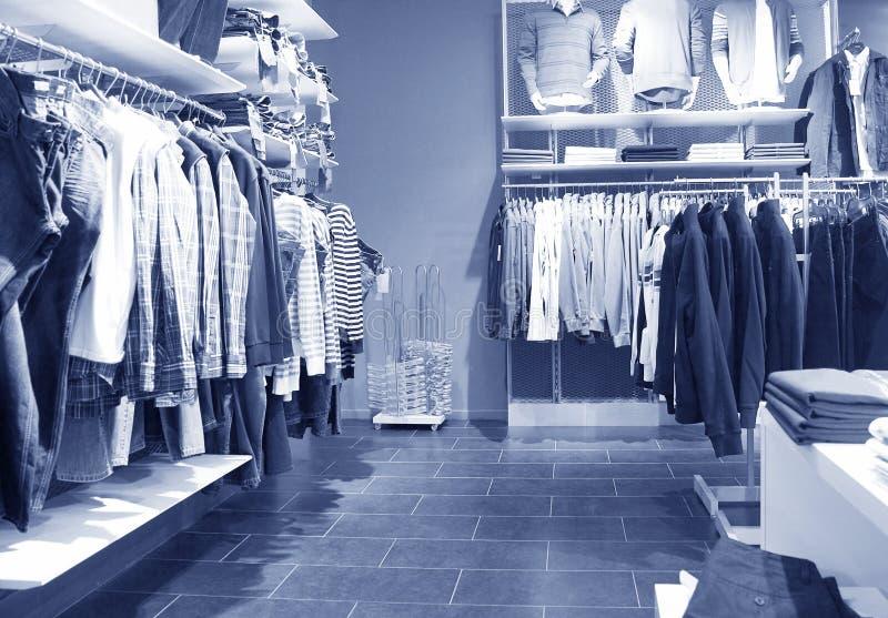 Men's clothing shop stock photos