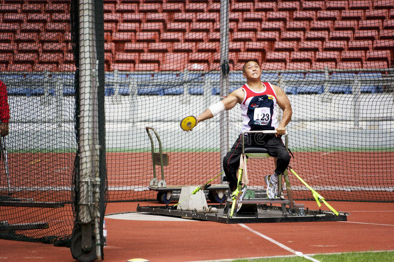 Download Men's Discus Throw For Disabled Persons Editorial Stock Photo - Image of athletic, discus: 10631313