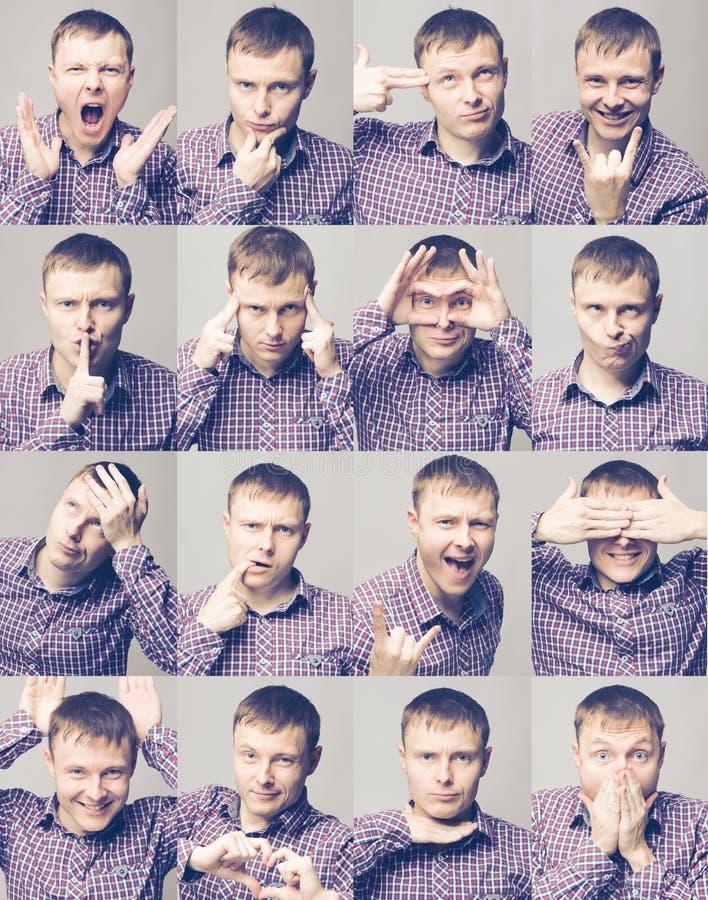Men& x27; s emoties royalty-vrije stock fotografie