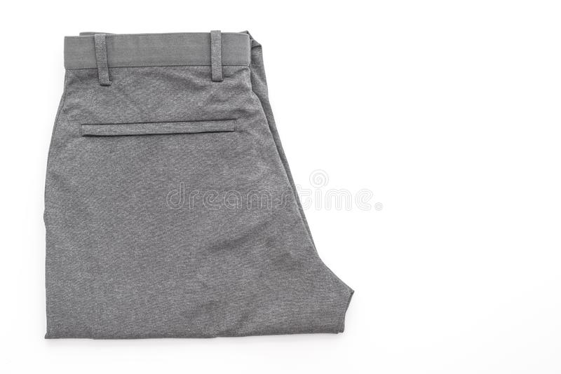 Men\'s grey pants on white background. Men\'s grey pants isolated on white background stock images