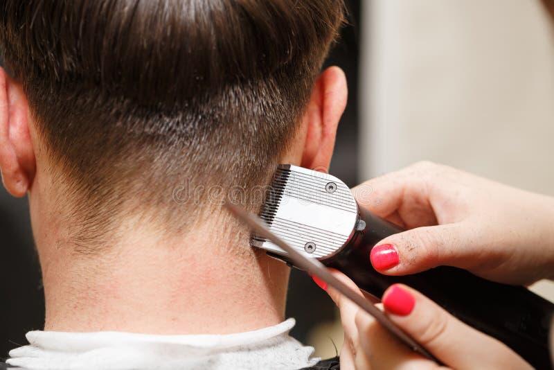 Men`s haircut stock photography