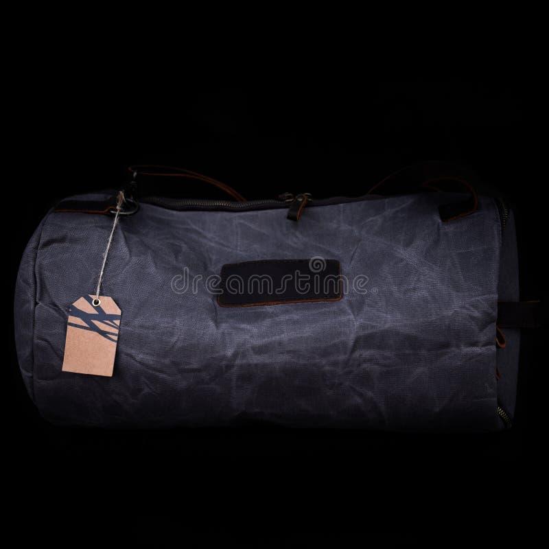 Men`s handbag backpack isolated on black background Sports bag. Men`s handbag backpack isolated on black background Sports bag royalty free stock images