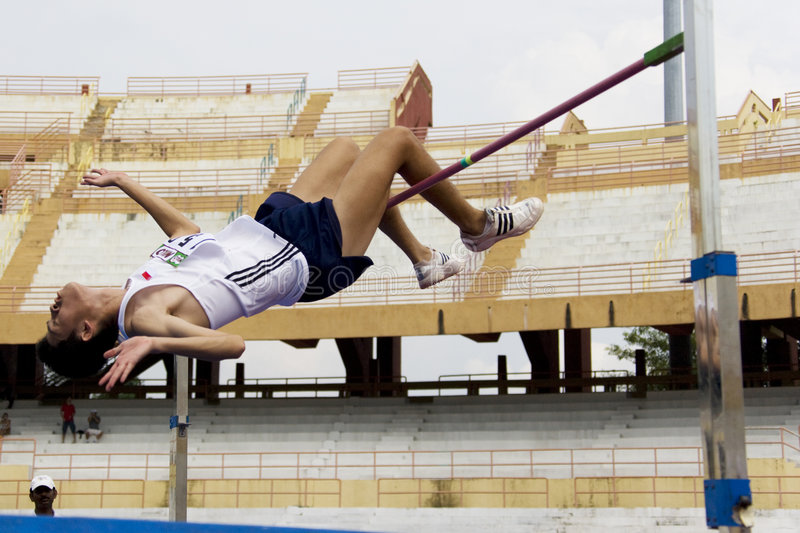 Download Men's High Jump Action Editorial Image - Image: 9194805