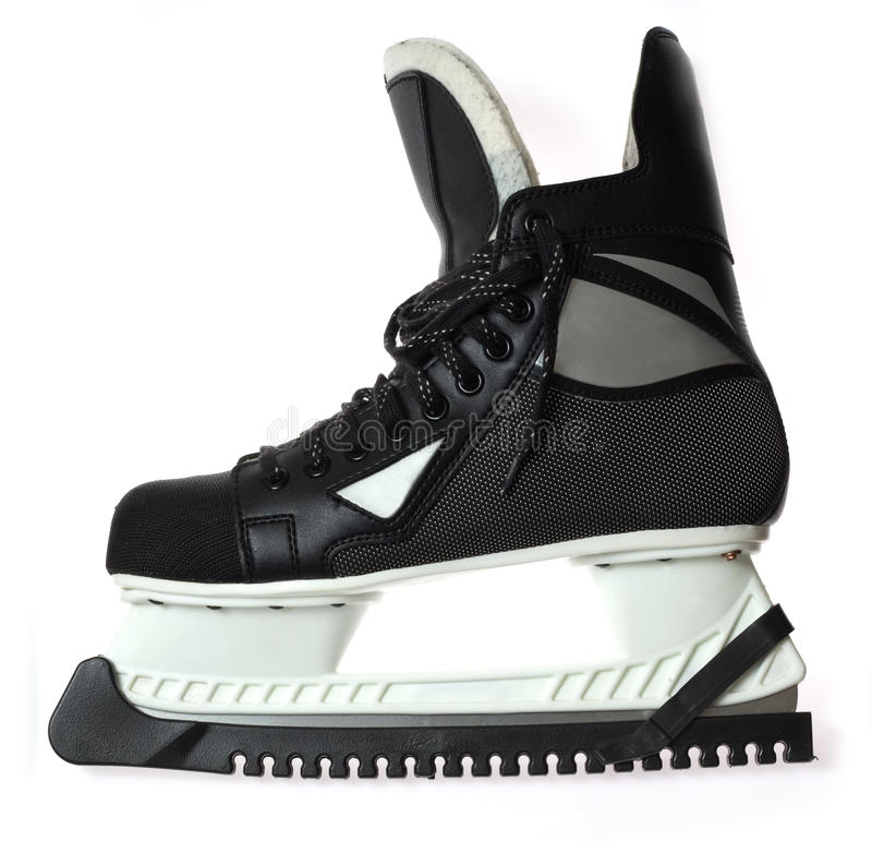 Men's ice skate royalty free stock images