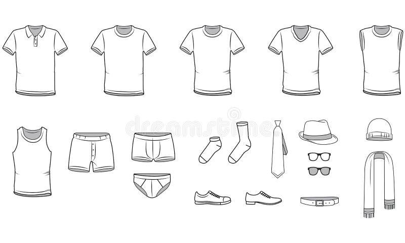 Men& x27; s-Kleidung lizenzfreie abbildung