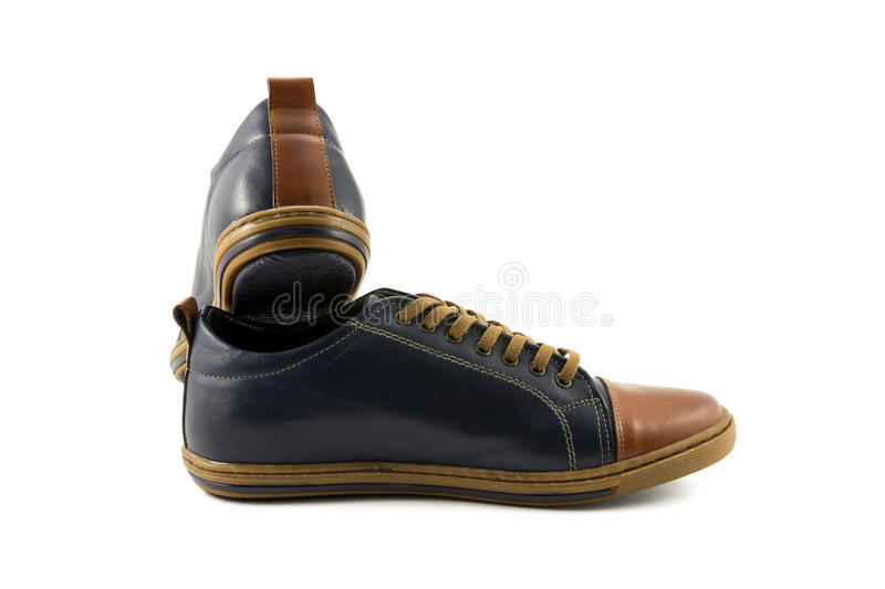 Men's leather shoes royalty free stock photography