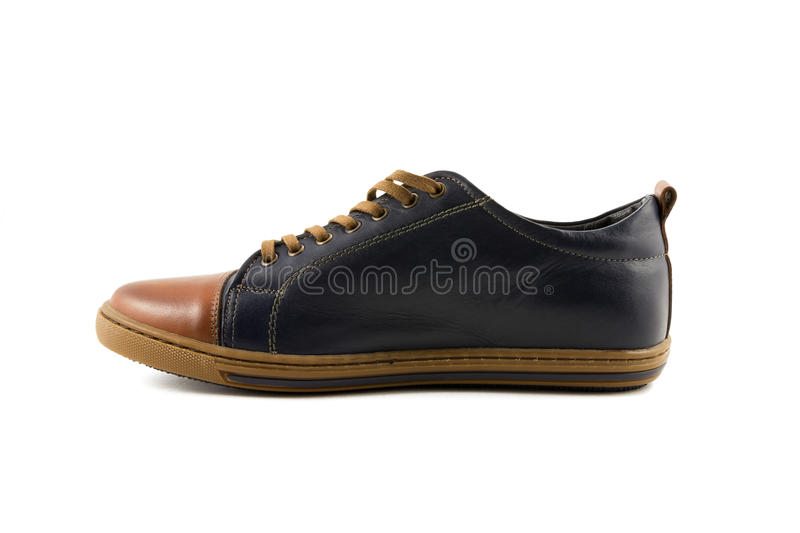 Men's leather shoes stock image