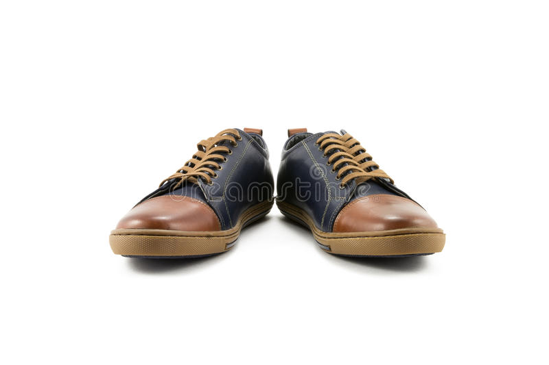Men's leather shoes royalty free stock photos