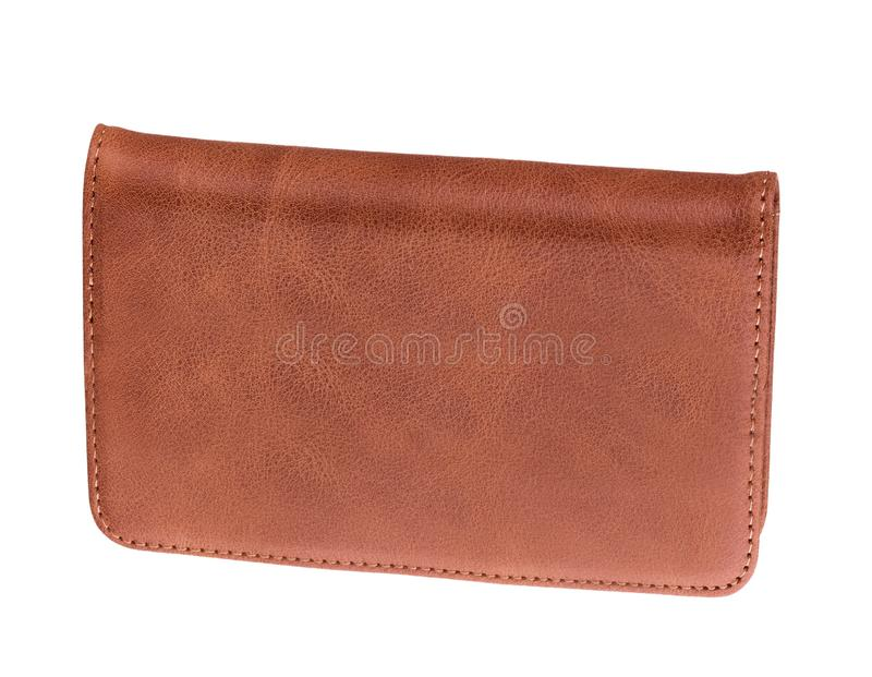 Men`s leather wallet isolated. On white background stock images