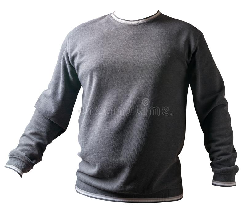 Men`s long sleeve t-shirt isolated on white background with clipping path royalty free stock image
