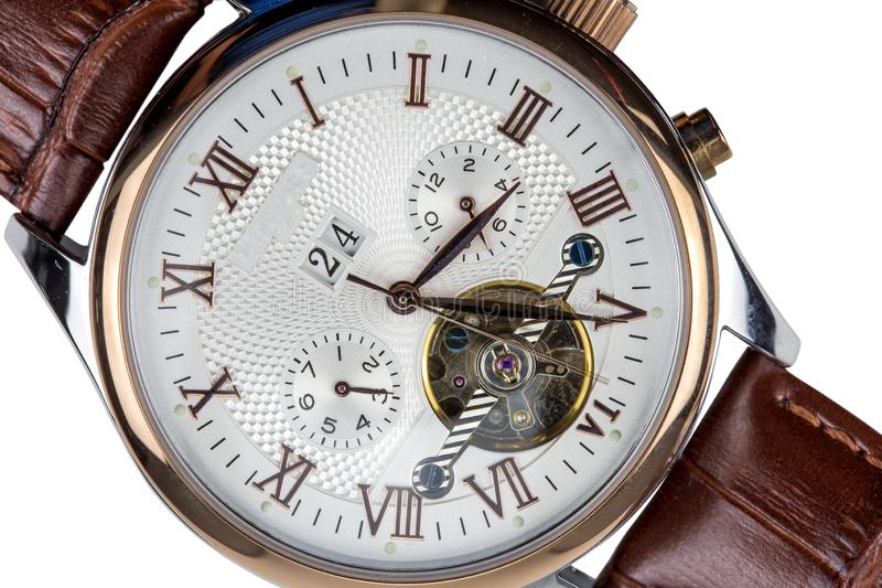 Men`s mechanical watches stock photography