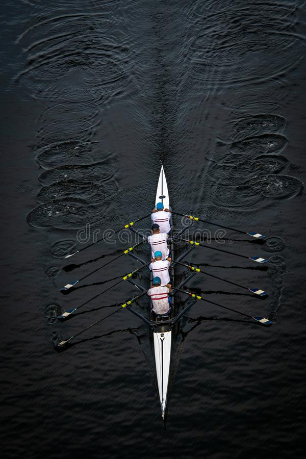 Men`s Quadruple Scull royalty free stock image