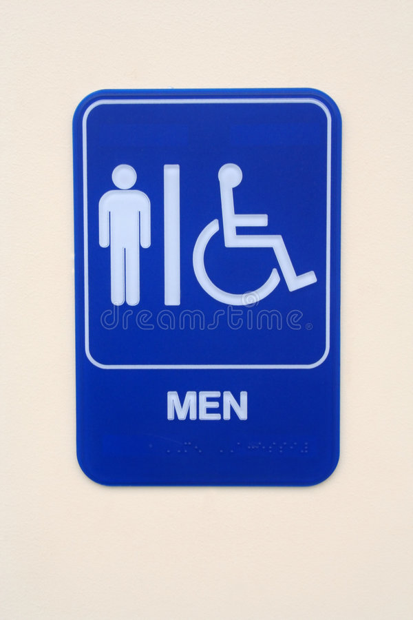 Men's Room Sign stock images