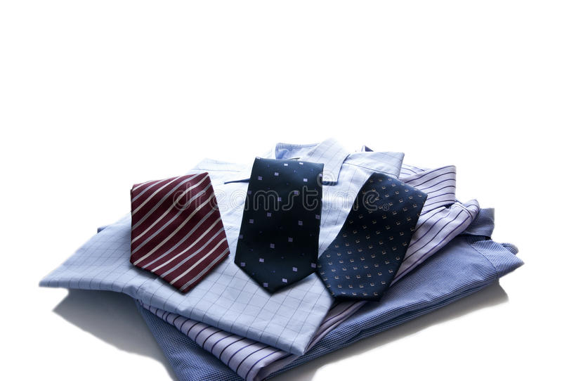 Men's shirts and ties royalty free stock photo