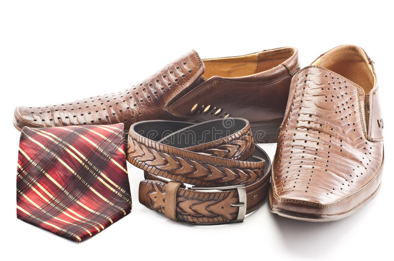 Download Men's Shoes, Tie And Men's Belt Stock Image - Image: 23821517
