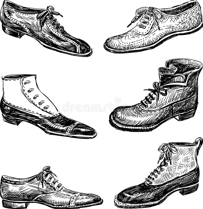 Men's shoes royalty free illustration