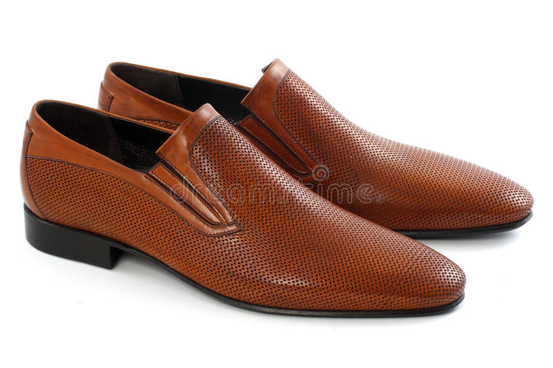 Men`s shoes. On a white background royalty free stock photos