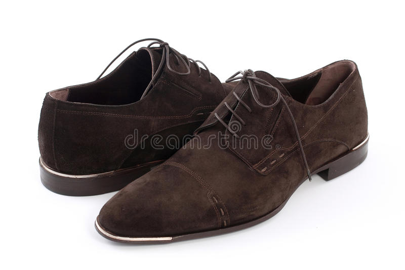 Men`s shoes. On a white background stock photo