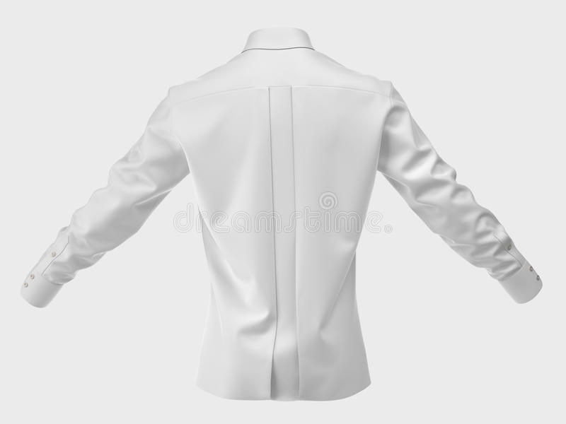 Men's silk shirt isolated on white. Cut Out. Clothing collection stock illustration