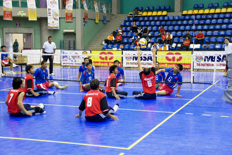 Download Men's Sitting Volleyball For Disabled Persons Editorial Photo - Image: 10639976